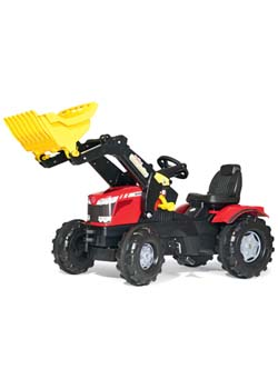 MF 8650 Ride-On Pedal Tractor with Loader Thumbnail